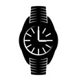 black wrist watch sign vector image