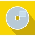 Blank CD icon in flat style vector image