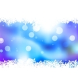 Blue background with snowflakes EPS 10 vector image vector image