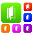 book with bookmark set collection vector image vector image