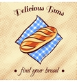 Bread On A Napkin 2 vector image vector image