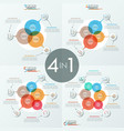 bundle of 4 unusual infographic design layouts vector image vector image