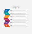 business infographic labels template with 6 vector image vector image