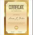 certificate or diploma retro vintage golden vector image vector image