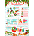 christmas holiday celebration infographic vector image vector image