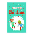 christmas holidays children playing snowballs vector image