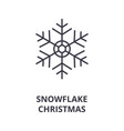christmas snowflake line icon outline sig vector image