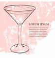 cocktail espresso martini scetch vector image