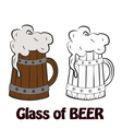 Cold Craft Beer vector image vector image