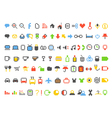 Color pixel style icons collection vector image vector image