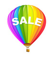 colorful sale hot air balloons vector image vector image