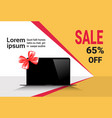 cyber monday sale template banner discounts on vector image vector image