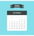 December 2016 Calendar vector image