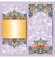 decorative label card for vintage design ethnic vector image vector image