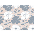 delicate floral garden seamless pattern vector image