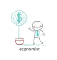 economist grow a money tree vector image vector image