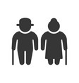 elder people icon on white background vector image vector image