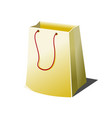 empty paper shopping bag with rope handles vector image vector image