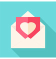 Envelope with love letter vector image vector image