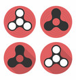 fidget spinner icons set hand spinners release vector image vector image