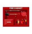fire cabinet firefighting set fire equipment vector image vector image