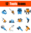 Flat design tools icon set vector image vector image