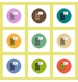 flat icons set of progress statistics and gadget vector image vector image