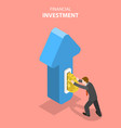 flat isometric concept of financial vector image vector image