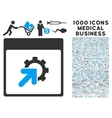 Gear Integration Calendar Page Icon With 1000 vector image vector image