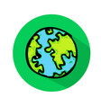 globe earth icon vector image vector image