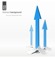 Growth arrows - success concept vector image vector image