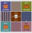 Halloween holiday cards pattens set vector image