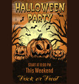halloween party colorful vintage template vector image