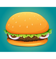 Hamburger with meat and veggie vector image vector image