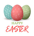 happy easter easter red and green and blue doodle vector image vector image