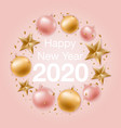 happy new year greeting background with shiny vector image vector image