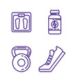healthy and fitness lifestyle set icons vector image vector image