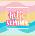 hello summer sale banner vector image vector image