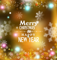 holiday gold background with snowflakes blurred in vector image vector image