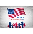 independence day over gray background vector image vector image