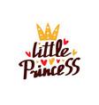 lettering little princess vector image