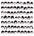 Male hair styles vector image vector image
