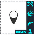 marker icon flat vector image