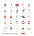 medical and health care icons set 01 vector image