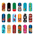 nail set tattoo vector image vector image