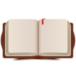 Open book diary with bookmark vector image vector image