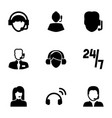 operator icons vector image vector image