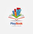 play book education logo sign symbol icon vector image vector image