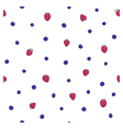 raspberry blueberry pattern vector image vector image