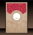 Red and Gold Paisley Envelope vector image vector image